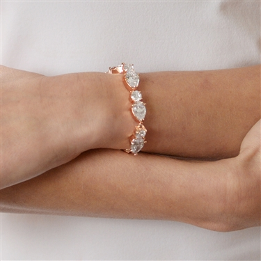 Pearl and CZ Bracelet & Earrings