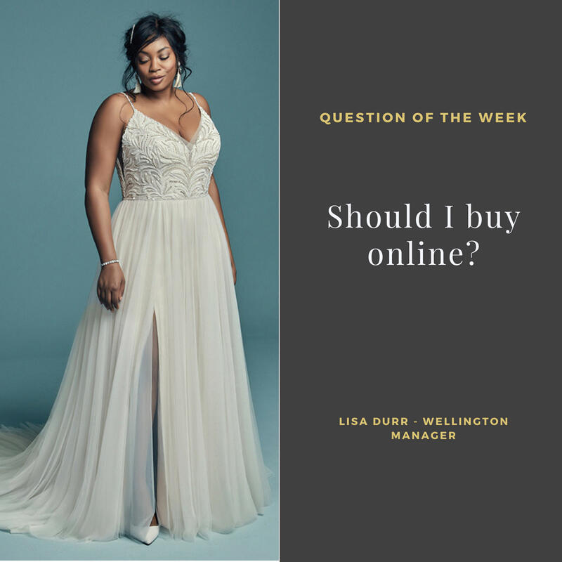 Should I buy a wedding gown online?