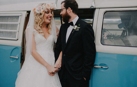 A classic wedding with a sprinkling of boho style